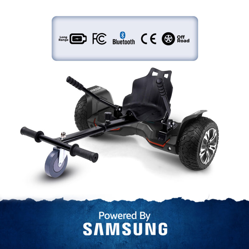 Black Gyroor Hoverboard With Seat